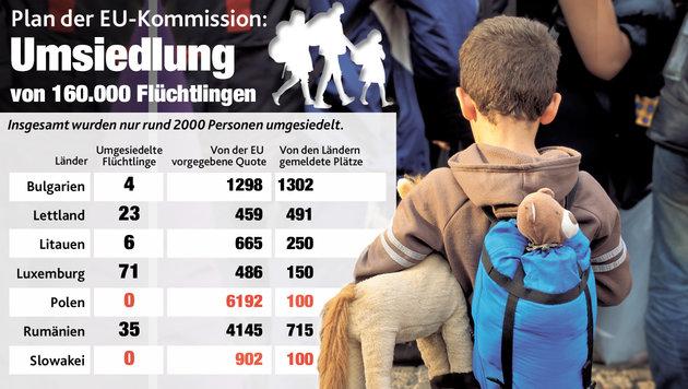 """Asylwerber wollen nicht nach Polen oder Litauen (Bild: """"Krone""""-Grafik)"""