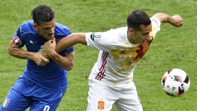 Italien tanzt Spanien aus - verkehrte Welt bei EM (Bild: AFP or licensors)