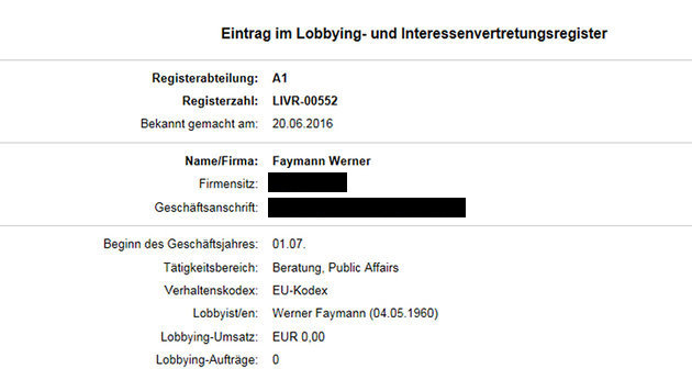Ex-Kanzler Faymann ist jetzt offiziell Lobbyist (Bild: Justizministerium)