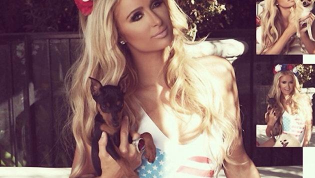 Der Independence Day ist bei Paris Hilton ein Festtag, den man im Badeanzug oder Bikini begeht. (Bild: Viennareport)