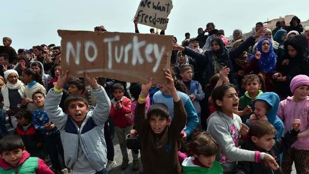 So gefährlich ist der kranke Mann am Bosporus (Bild: APA/AFP/LOUISA GOULIAMAKI)