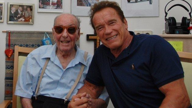 Arnold Schwarzenegger zu Besuch bei Fredi Gerstl in Graz (Bild: Ferdinand Krainer)