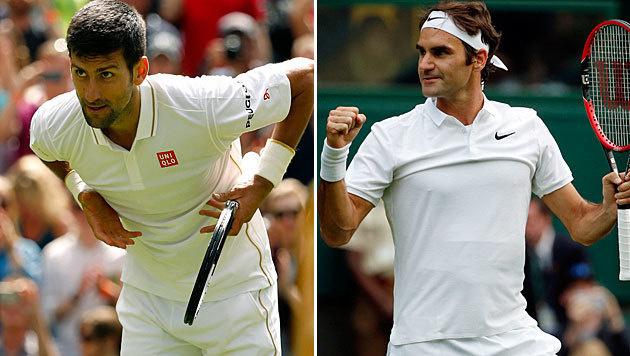 Djokovic und Federer ohne Satzverlust weiter (Bild: AP)