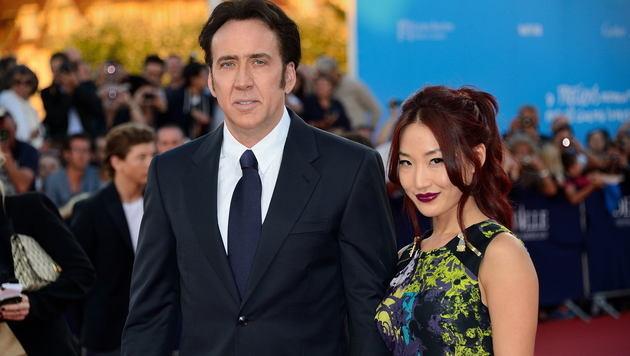 Nicolas Cage und Noch-Ehefrau Alice Kim (Bild: Viennareport)