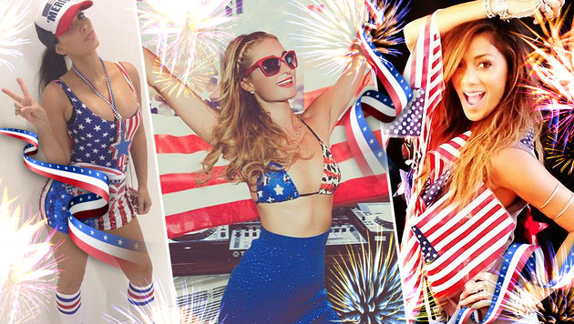 So sexy feiern US-Promis den Independence Day (Bild: Viennareport, thinkstockphotos.de)