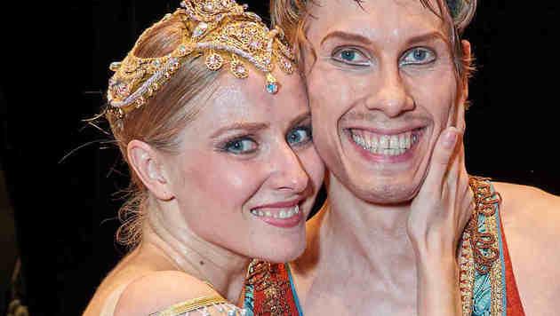 Kourlaev mit  Ehefrau Esina (Bild: Starpix/Alexander TUMA)