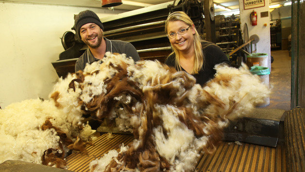 Das Rohvlies der Lama- und Schafwolle wird in Mörtschach zur Weiterverarbeitung aufbewahrt. (Bild: Uta Rojsek-Wiedergut)