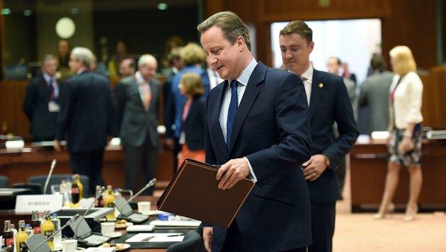 David Cameron beim.. (Bild: APA/AFP/Stephane De Sakutin)