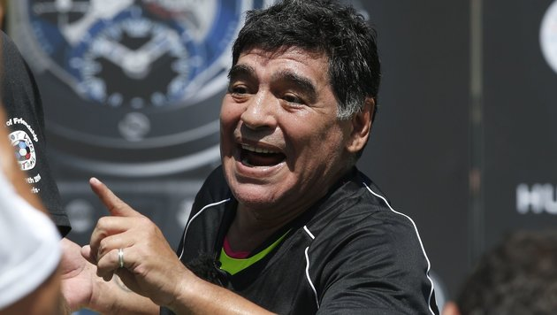 "Maradona tobt: ""Verband hat Messi allein gelassen"" (Bild: APA/AFP/PATRICK KOVARIK)"