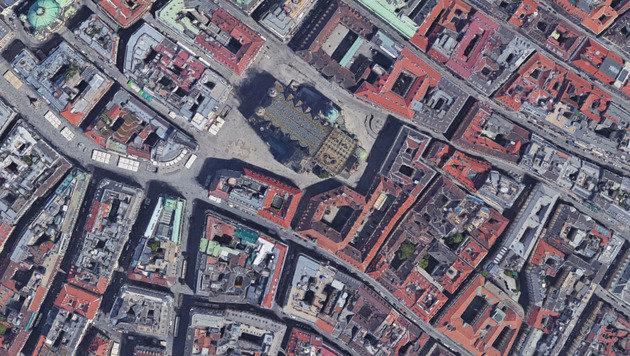 So detailreich wie jetzt hat man den Stephansdom auf Google Maps noch nie gesehen. (Bild: Google Maps)