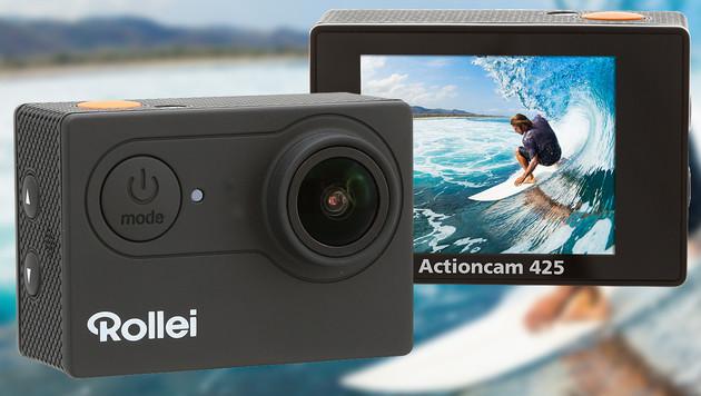 Rollei erweitert Sortiment um 4K-Actioncam 425 (Bild: Rollei, krone.at-Grafik)