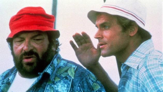 """Bud Spencer und Terence Hill in """"Zwei Himmelhunde auf dem Weg zur Hölle"""" (Bild: EPA)"""
