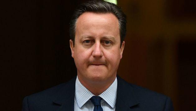 David Cameron auf dem Weg ins britische Parlament (Bild: APA/AFP/BEN STANSALL)