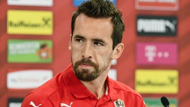 Den Tränen nah: ÖFB-Kapitän Fuchs tritt zurück! (Bild: AFP)