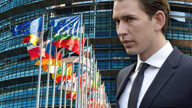 Flüchtlingspolitik für Kurz größter Fehler der EU (Bild: APA/Hans Punz, thinkstockphotos.de)