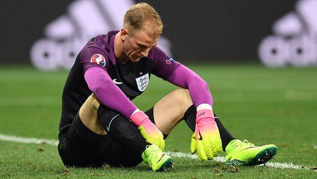 Harte Kritik an Englands EM-Torhüter Joe Hart (Bild: APA/AFP/PAUL ELLIS)