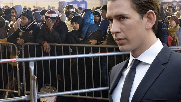 Kurz will Österreichs Anreize für Migranten senken (Bild: APA/ERWIN SCHERIAU, APA/HANS PUNZ)