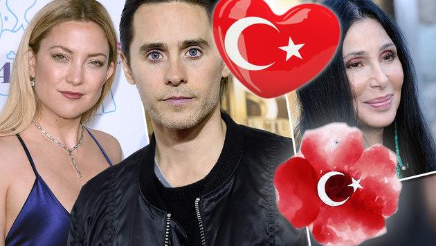 Kate Hudson, Jared Leto und Cher trauerten auf Instagram und Twitter. (Bild: Viennareport, AP, EPA, Instagram.com)