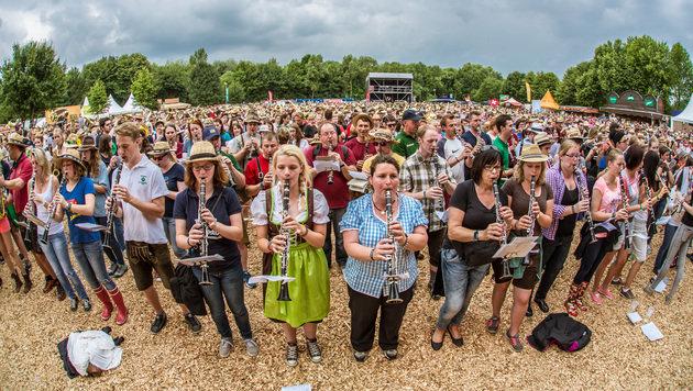 """Woodstock der Blasmusik: Aufg""""spielt wird! (Bild: Klaus Mittermayr)"""