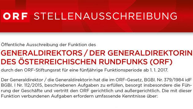 ORF startet offiziell Suche nach neuem Chef (Bild: orf.at)