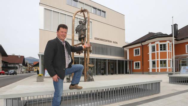 Ortschef Andreas Wimmer kämpft für eine gute Infrastruktur in Kuchl (Bild: Neumayr)