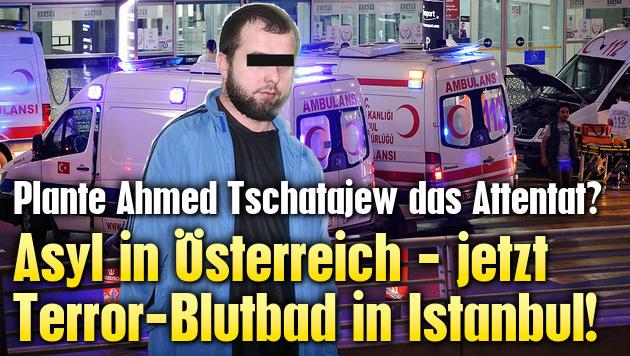 Asyl in Österreich - jetzt Blutbad in Istanbul (Bild: Associated Press, Krone)