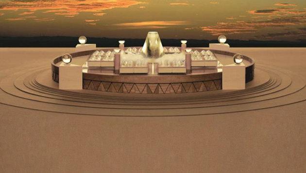 Model zeigt, wie das Timeship Building aussehen wird. (Bild: Timeship/Stephen Valentine)