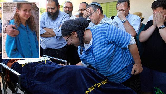 Hunderte Menschen nahmen Abschied von Hallel Yaffe Ariel (kl. Bild). (Bild: APA/AFP/GIL COHEN-MAGEN, Twitter)
