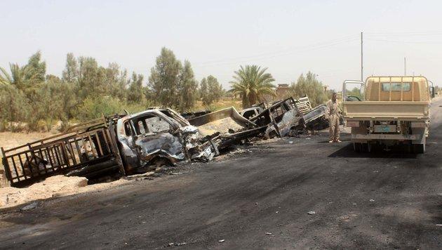 150 IS-Kämpfer im Irak auf der Flucht getötet (Bild: APA/AFP/Moadh al-Dulaimi)
