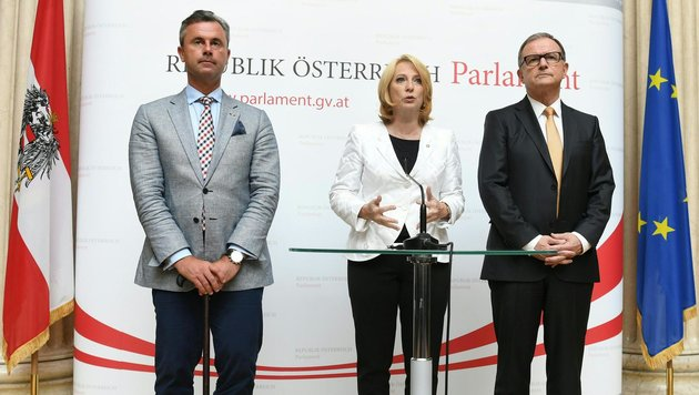 Die Nationalratspräsidenten übernehmen die Amtsgeschäfte des Bundespräsidenten bis auf Weiteres. (Bild: APA/Helmut Fohringer)