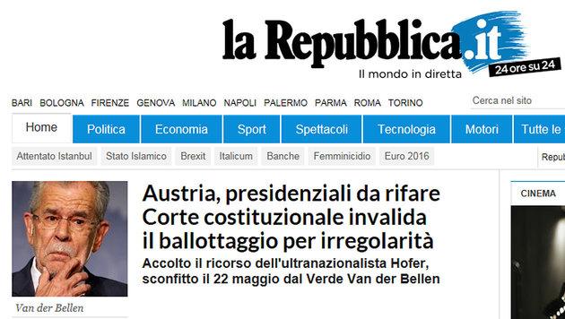 So reagiert die Welt auf den Neuwahl-Entscheid (Bild: La Repubblica)