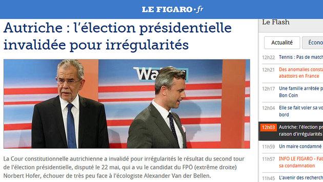 So reagiert die Welt auf den Neuwahl-Entscheid (Bild: Le Figaro)