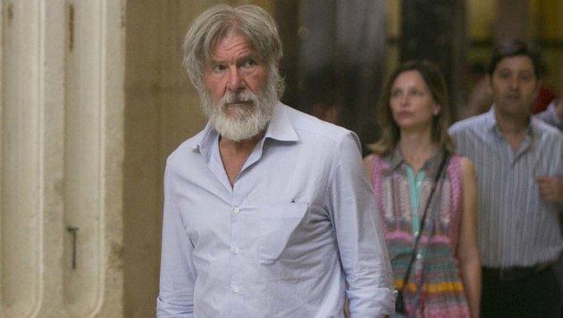 Harrison Ford und Calista Flockhart im Spanienurlaub im Juni 2016 (Bild: Viennareport)