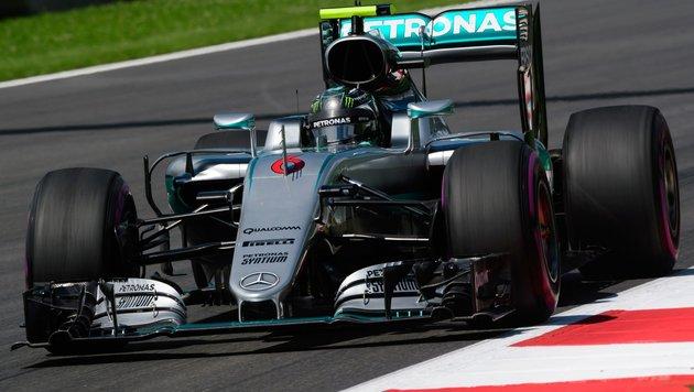 WM-Leader Rosberg schnellster Mann in Spielberg (Bild: APA/AFP/JURE MAKOVEC)
