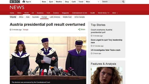 So reagiert die Welt auf den Neuwahl-Entscheid (Bild: BBC)