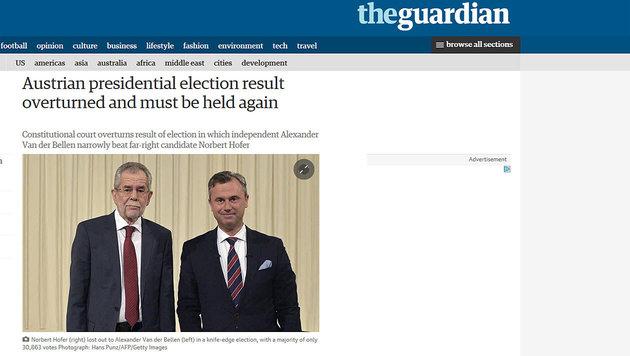 So reagiert die Welt auf den Neuwahl-Entscheid (Bild: The Guardian)