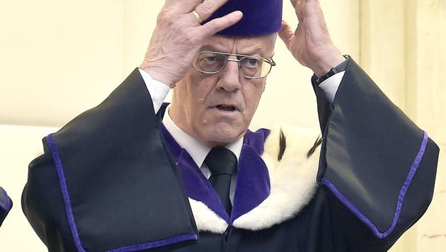 VfGH-Präsident Gerhart Holzinger (Bild: APA/HANS PUNZ)