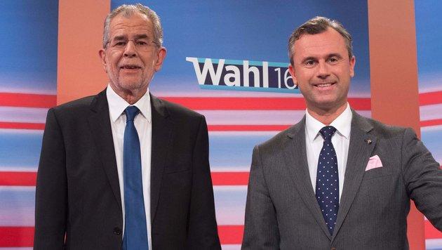 Gemeinsames TV-Duell für Van der Bellen und Hofer? (Bild: AFP)
