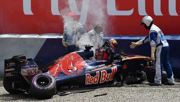 Hamilton-Pole von Kwjat-Crash überschattet (Bild: APA/AFP/ANDREJ ISAKOVIC)