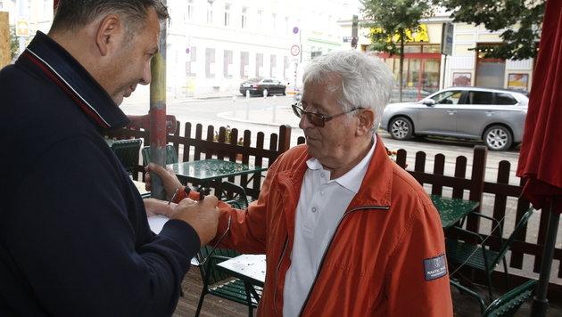 """Karl U. aus Kärnten beim """"Krone""""-Interview (Bild: Martin A. Jöchl)"""