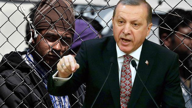 Will Präsident Recep Tayyip Erdogan nur mehr Stimmen für sich gewinnen, wie Kritiker meinen? (Bild: APA/AFP/ARIS MESSINIS, APA/AFP/ADEM ALTAN)