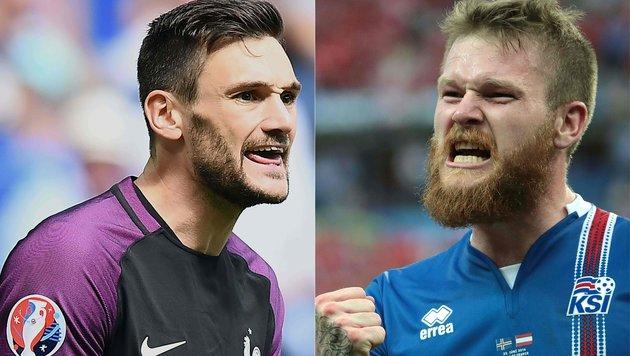 Islands Wunderteam prallt auf Gastgeber Frankreich (Bild: APA/AFP/FRANCK FIFE/KENZO TRIBOUILLARD)