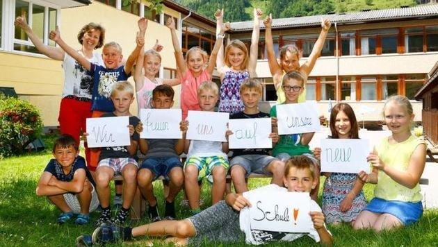Die Klasse 3b freut sich auf die neue Schule, auch wenn sie 2018 schon die Hauptschule besuchen (Bild: Gerhard Schiel)