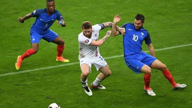 Island als Europameister der Herzen gefeiert (Bild: AFP or licensors)