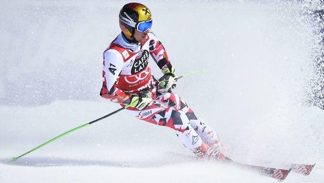 Marcel Hirscher beim Riesentorlauf (Bild: APA/AFP/FABRICE COFFRINI)