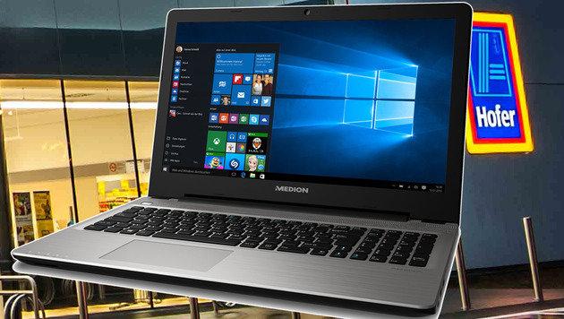 Full-HD & SSD für 500 Euro: Neuer Laptop bei Hofer (Bild: Medion)
