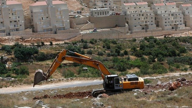 Bauarbeiten im Westjordanland (Bild: APA/AFP/AHMAD GHARABLI)