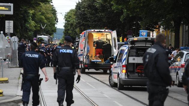 Billa-Überfall: Polizist (23) erlag Verletzungen (Bild: APA/HERBERT P.OCZERET)