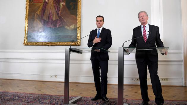 Bundeskanzler Christian Kern und Vizekanzler Reinhold Mitterlehner (Bild: APA/ROLAND SCHLAGER)