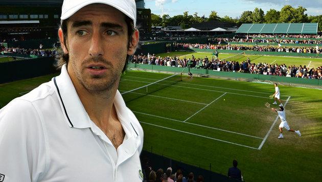 Pinkel-Eklat sorgt für Aufregung in Wimbledon (Bild: APA/AFP/GLYN KIRK, GEPA)